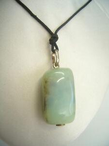 Ciondolo in ARGENTO 925 con OPALE naturale - pendente pietra dura con girocollo