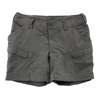 The North Face Women's size 4 Solid Dark Gray Nylon Cargo Hiking Trail Shorts