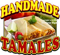 Handmade Tamales DECAL (CHOOSE YOUR SIZE) Food Truck Concession Sticker