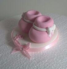 EDIBLE BABY BOOTIES  CAKE TOPPER sugarpaste birthday christening