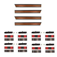 1969~72 Chevy Pickup Truck LONG Bed Woodgrain Molding Set Lower+Rear+Right+Left