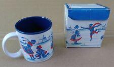 Cute Winter Ice Skating 1987 New in Box Nordic Skaters 12 oz Coffee Tea Cup Mug