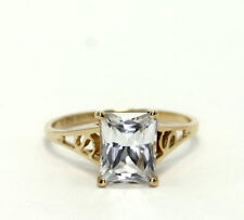 Generous 10 Ct Emerald Cut Ring Vintage Top Russian Aaaaa Cz Moissanite Simulant Size 9 At Any Cost Fine Jewelry Other Fine Rings