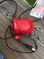 Coleman Quickpump Air Mattress Pump Inflator 120V  pool floats. inflatable toys