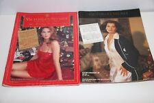 Victoria's Secret vintage 1991 HOLIDAY catalog Jill Goodacre + BONUS 1992 issue