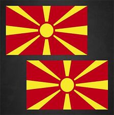 2 Macedonia Flag Decals Stickers