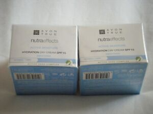 Avon True Nutra Effects Day/night Creams 2 pots x 50ml, various, new,sealed