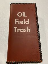 "Oil Field Leather Pipe Tally Book Cover 8.75"" x 4"" ( F )"