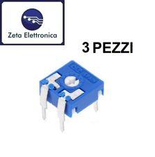 3PZ TRIMMER 10K ORIZZONTALE MONOGIRO 10kohm 0,15W POTENZIOMETRO