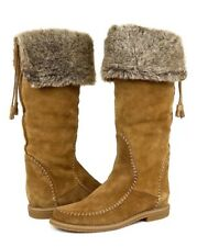 Jack Rogers Women's Nell Faux Fur Suede High Boots 1199 Size 7 New
