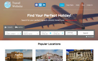 Travel Agency Website - Earn Hundreds Per Sale! + Free Domain & Easy to Manage!