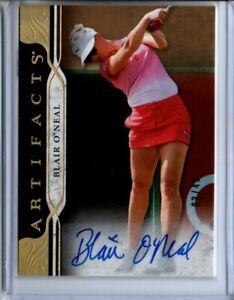 2021 Upper Deck Artifacts Blair O'Neal Gold Spectrum Autograph Card #03/49