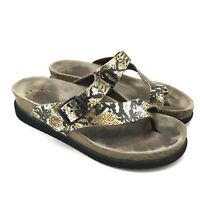 Mephisto HELEN Womens 6 36 Sandals Python Metallic Snake Leather Footbed