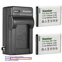 Kastar Battery AC Wall Charger for Samsung BP-70A & Samsung TL205 WB30F Camera