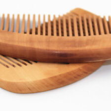 Wood Hair Engraved Natural Peach Wooden Comb Anti-Static Beard Comb Tool Pop