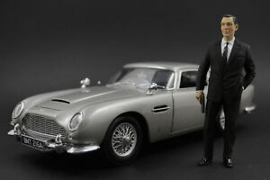 Sean Connery James Bond Figure for 1:18 AUTOart Aston Martin DB5 DBS Vanquish