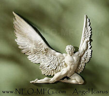 Historical Greek Mythological Icarus male wall angel Sculpture 11in