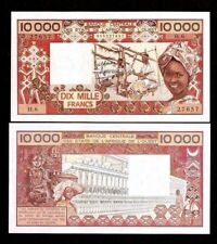 WEST AFRICAN STATES IVORY COAST 10000 FRANCS P109A D FIGURINE UNC MONEY BANKNOTE