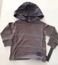 DKNY NWT Toddler Boys Tee Top Shirt Tshirt Gray Long Sleeve Logo Hoodie 2 2T