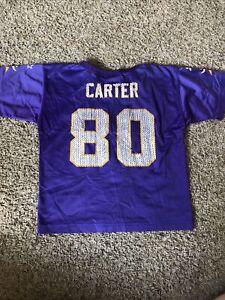Vintage Cris Carter Minnesota Vikings NFL Starter Jersey YOUTH Large