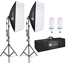 Lighting Kit l Studio Photography Continuous Equipment with 85W 5500K E27 Socket