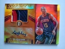 2015-16 Panini Gold Standard Good As Gold Al Horford Prime Patch & Auto #d 20/25