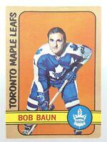 1972-73 Bob Baun Toronto Maples Leafs 66 OPC O-Pee-Chee Hockey Card P020