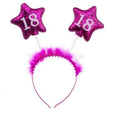 18th Rose Star Fluffy Boppers Headband Birthday Party Girl's Night Out