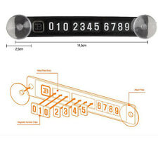 Mini Car Temporary Parking Card Magnetic Phone Number Plate Craft Sucker Vehicle