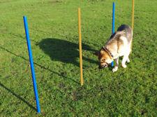 Agility Slalom 4 Poles Dog Training Outdoor Fun Exercise