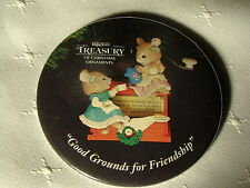 "1993 Enesco TREASURY OF CHRISTMAS ORNAMENTS 3"" Promotional Event Pin Back Button"