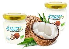 Huile Extra Vierge De Noix De Coco Bio 225 mml, Vendues par 2 pots Pressée à Fro