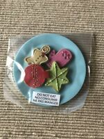 """American Girl holiday Christmas plate of cookies platter for Santa 18"""" doll NEW"""