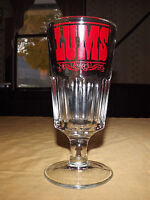 "VINTAGE OLD LAKE GEORGE NY RESTAURANT 8 1/2"" HIGH LUM'S BEER SODA THICK GLASS"