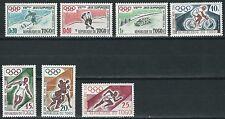 Togo-Olimpiadi Squaw Valley e Roma frase posta fresco 1960 MER. 276-282