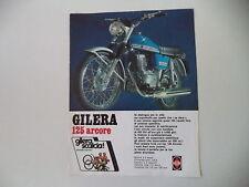 advertising Pubblicità 1974 MOTO GILERA 125 ARCORE