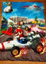 Rare Mario Kart DS Twin Bed Reversible Comforter Official Nintendo Liscensed