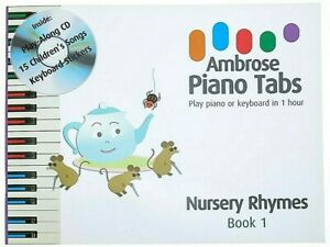 Children's First Piano Book Nursery Rhyme Music Beginners Learn to Play Keyboard