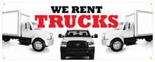We Rent Trucks Banner Box Trucks Semi Trucks Moving Retail Store Sign 36x96