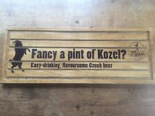 Vintage Kozel Czech Beer Advertising Drip Tray / Sign Home Bar Mancave Plywood
