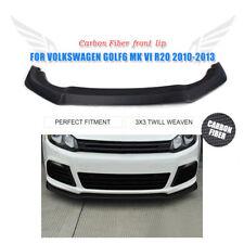 Carbon Fiber Front Bumper Chin Lip Splitter Spoiler for VW Golf 6 MK6 R20 10-13