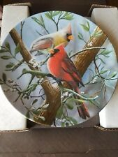 The Cardinal Birds Of Your Garden Collection Knowles Collector 8.5 inch Plate