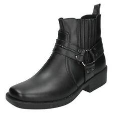 Men's Slip on Biker Synthetic Boots