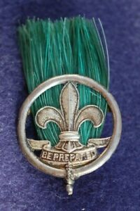 1910 's - Early Boy Scout - Scoutmasters Hat Plume - SILVER - No Stars
