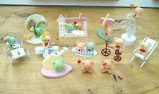 Vintage Retro Russ Miniature 80's flocked / Flock mini Teddy Bears bundle