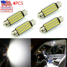 JDM ASTAR 4x 33-SMD 42mm White LED License map dome door Lights Bulbs 211-2 578
