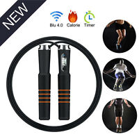 Bluetooth Smart Jump Rope Time Speed Counter Skipping Rope For Samsung iPhone LG