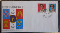 1984 NEW ZEALAND QEII DEFINITIVES SET OF 2 STAMPS FDC FIRST DAY COVER