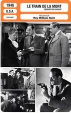 FICHE CINEMA : LE TRAIN DE LA MORT - Rathbone,Bruce,Neill 1946 Terror By Night