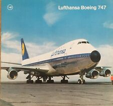 LUFTHANSA AIRLINES B747 INTRO PROMO BROCHURE 1970 Seat Chart ROUTE MAP